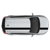 Набор наклеек спортивных полос на автомобиль Kia Sportage, вид 1