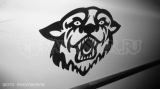 """Наклейка на авто """"Голова пантеры"""""""