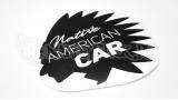 """Наклейка на авто """"Натуральный американский автомобиль"""""""