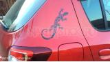 """Наклейка на авто """"Ящерица Маори"""""""