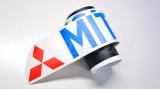 """Наклейка полоса """"Mitsubishi Motors"""" на лобовое стекло 130 х 18 см"""