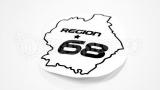 """Наклейка на авто """"Регион 68. Тамбов"""""""