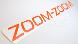 "Наклейка на авто ""Mazda zoom-zoom"""