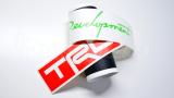 """Наклейка полоса """"TRD Racing Development"""" на лобовое стекло 130 х 18 см"""