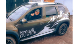 """Наклейка """"Горы и лес"""" на левый борт Renault Duster"""