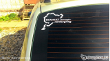 "Наклейка на авто ""Nurburgring Renault sport"""