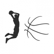 """Наклейка на авто """"Баскетбол"""""""