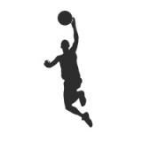 """Наклейка на авто """"Баскетболист в прыжке"""""""