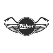 "Наклейка на авто ""Biker"""