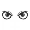 """Наклейка на авто """"Глаза. Взгляд совы"""""""