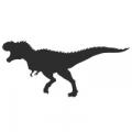 """Наклейка на авто """"Тираннозавр силуэт"""""""