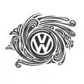 """Наклейка на авто """"Винтажный Volkswagen"""""""