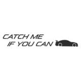 """Наклейка на авто """"Catch me if you can"""""""
