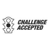 """Наклейка на авто """"Challenge accepted"""""""