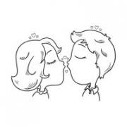"""Наклейка на авто """"Любовь. Поцелуйчики"""""""