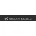 """Наклейка полоса """"Nissan Sporteam"""" на лобовое стекло 130 х 18 см"""