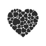 "Наклейка на авто ""Сердце сердец"""