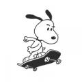 """Наклейка на авто """"Снупи на скейте"""""""