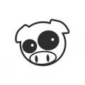 """Наклейка на авто """"Subaru pig manga mascot"""""""