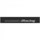 """Наклейка полоса """"Volkswagen Racing"""" на лобовое стекло 130 х 18 см"""