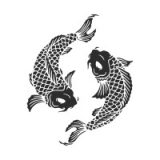 """Наклейка на авто """"Японские рыбки"""""""