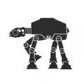 """Наклейка на авто """"Робот АТ-АТ Звёздные войны"""""""