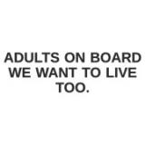 """Наклейка на авто """"Adults on board"""""""