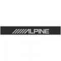 """Наклейка полоса """"Alpine"""" на лобовое стекло 130 х 18 см"""