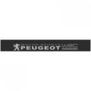 "Наклейка полоса ""Peugeot motorsport WRC"" на лобовое стекло 140 х 18 см"
