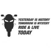 "Наклейка на авто ""Ride & Live Today"""