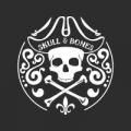 """Наклейка на авто """"Skull & Bones"""""""