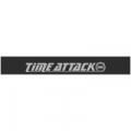 """Наклейка полоса """"Time Attack"""" на лобовое стекло 130 х 18 см"""