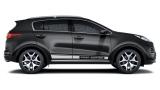 Спортивные полосы на автомобиль Kia Sportage, вид 2
