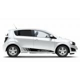 Комплект наклеек-полос на двери автомобиля Chevrolet Aveo, вид 1
