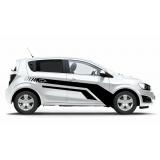 Комплект наклеек-полос на двери автомобиля Chevrolet Aveo, вид 3
