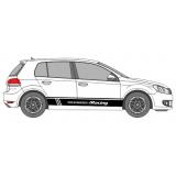 """Спортивные полосы """"Volkswagen Racing"""" на Фольксваген Гольф, вид 1"""