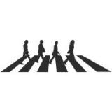 """Наклейка на авто """"The Beatles Abbey road"""""""