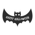 """Наклейка на авто """"Летучая мышь. Happy Halloween"""""""
