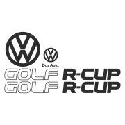 "Комплект наклеек ""Golf R-cup"" на Фольксваген Гольф"