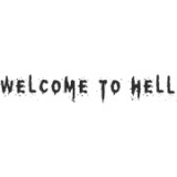 "Наклейка на авто ""Welcome to Hell"""