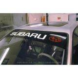 """Наклейка полоса """"Subaru"""" на лобовое стекло 140 х 18 см"""