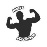 """Наклейка на авто """"Men's physique"""""""