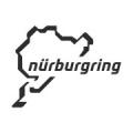 """Наклейка на авто """"Нюрбургинг"""""""