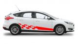 Спортивные полосы на двери Форд Фокус 3 , вид 13