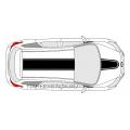 Комплект наклеек-полос на Ford Focus 3, вид 1