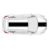 Комплект наклеек-полос на автомобиль Ford Focus 3, вид 2