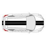 Комплект спортивных полос на Ford Focus 3 хетчбэк, вид 3