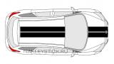 Комплект спортивных полос на Ford Focus 3, вид 4