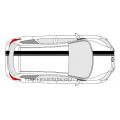 Комплект спортивных полос на Ford Focus 3 хетчбэк, вид 5