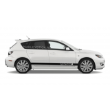Комплект спортивных полос Mazda 3 на борт Мазды, вид 4